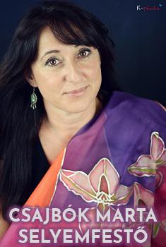 Csajbók Márta selyemfestő