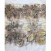 Színes rózsaleveles selyemsál, ecoprint