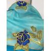 Kék rózsás selyemsál
