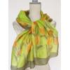 Sárga tulipános selyemsál