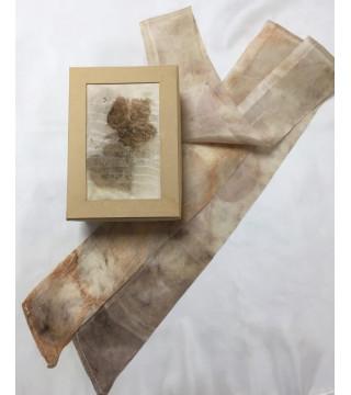Növényi nyomatos csíksál és doboz, ecoprint szett