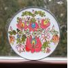 Selyem ablakkép - Matyó mintával, 15 cm