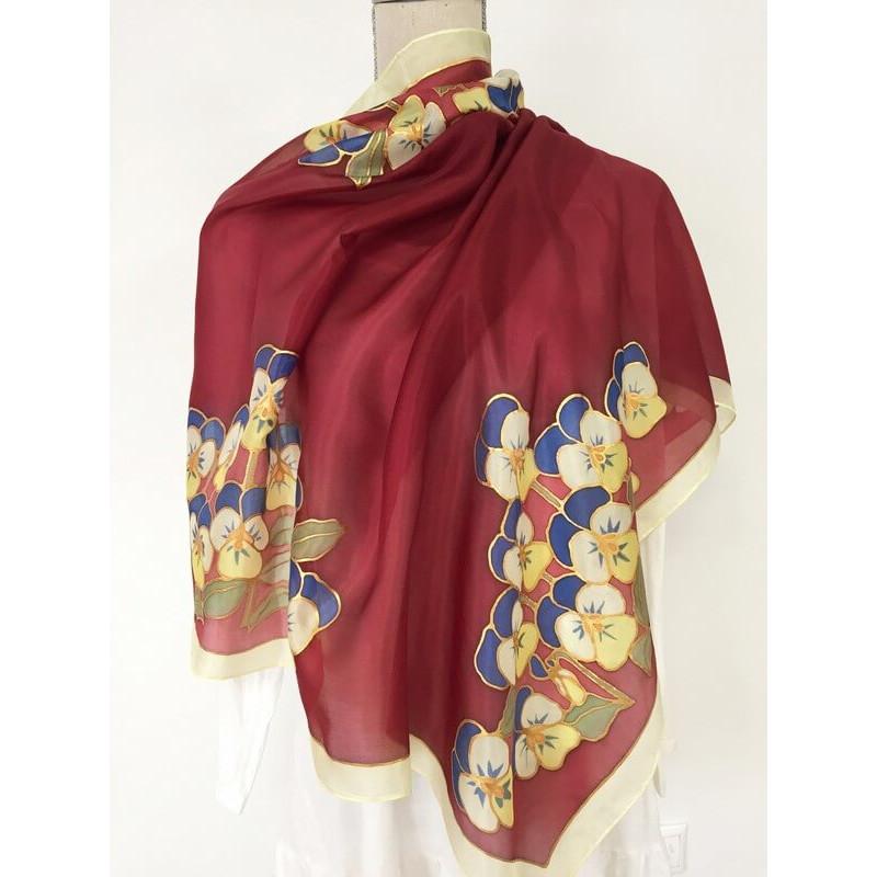 Árvácska csokros selyemkendő, nagy