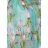 Fehér tulipános selyemsál, nagy
