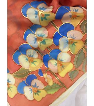 Árvácska csokros selyemkendő, közepes