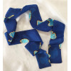Kisvirágos selyem csíksál, kék