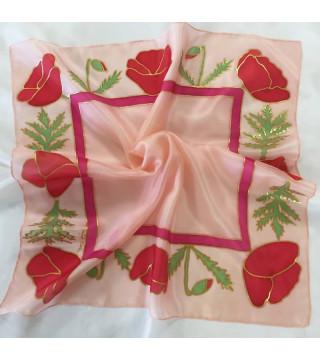 Pipacsos kiskendő rózsaszín alappal