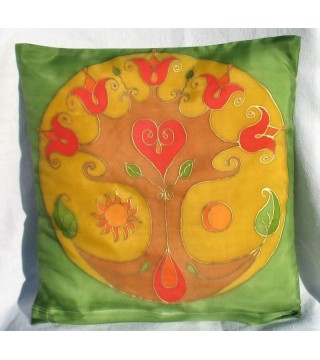 Selyem párna- tulipános életfa motívummal