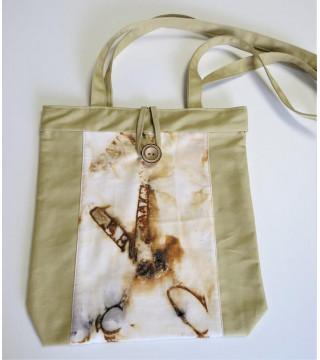 Női táska rozsdás olló nyomattal, ecoprint