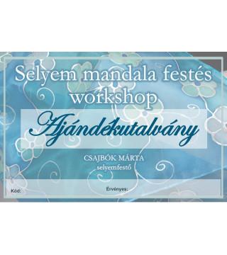 Selyem mandala festés workshop - ajándékutalvány